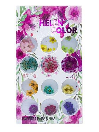 Flores secas variadas para encapsular - Hêlen Color