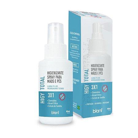 Spray Higienizante Para Mãos E Pés 3x1 Vegano 80ml Blant
