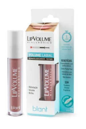 Lip Volume Hialurônico Gloss Volume Labial Nude 4ml Blant