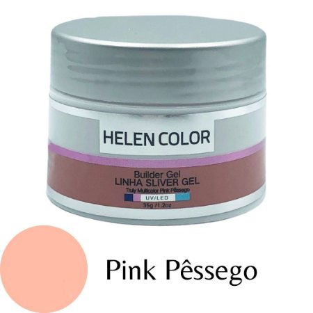 Gel para Unhas de Gel Helen Color Silver – Pink Pessêgo 35g