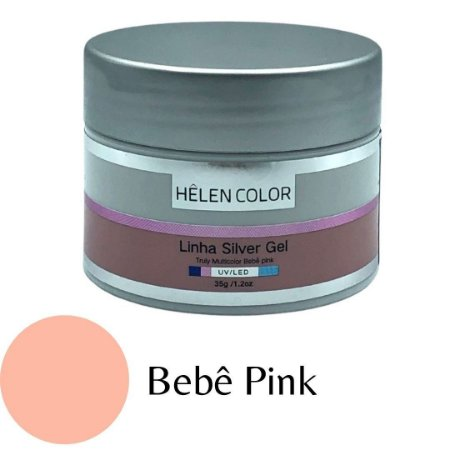Gel para Unhas de Gel Helen Color Linha Silver Bebê Pink 35g