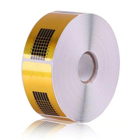 500 Moldes Adesivos De Papel Para Unhas De Gel e Porcelana