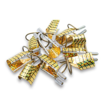 Kit 10 Moldes De Ferro Reutilizáveis Unhas Gel Acrigel Fibra