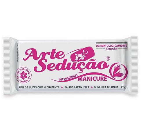 Kit Manicure Descartável Luva Creme Emoliente Palito Lixa