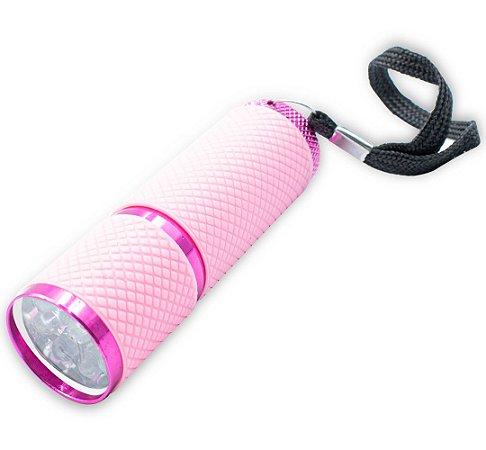 Lanterna Luz Ultravioleta 9 Leds Uv Secagem Unhas Gel Rosa