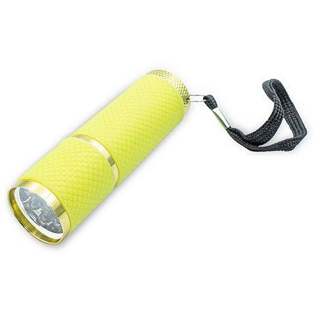 Lanterna Luz Ultravioleta 9 Led Uv Secagem Unhas Gel Amarela