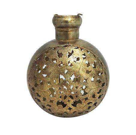 Vaso de Flores Ferro e Bronze Chattisgarh M