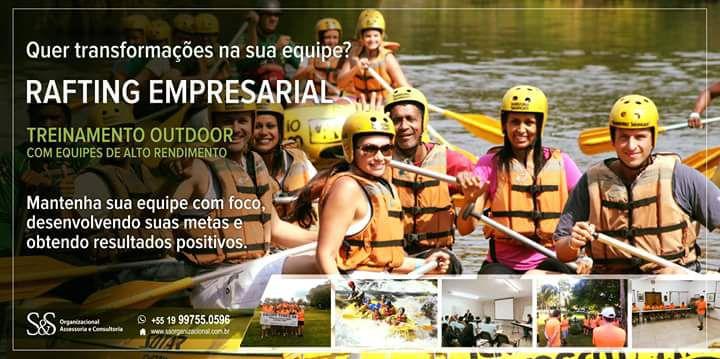 Treinamento Outdoor Rafting Empresarial