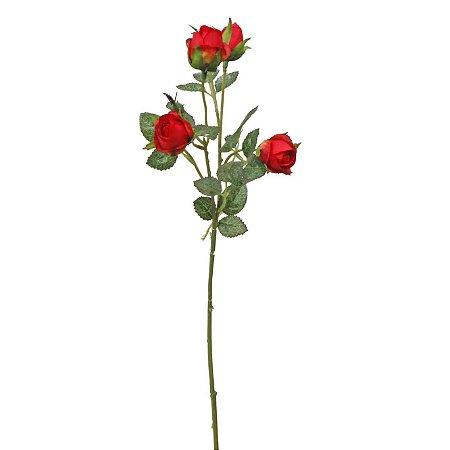 Galho De Mini Botões De Rosas