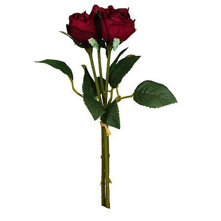 Mini Buquê De Rosas