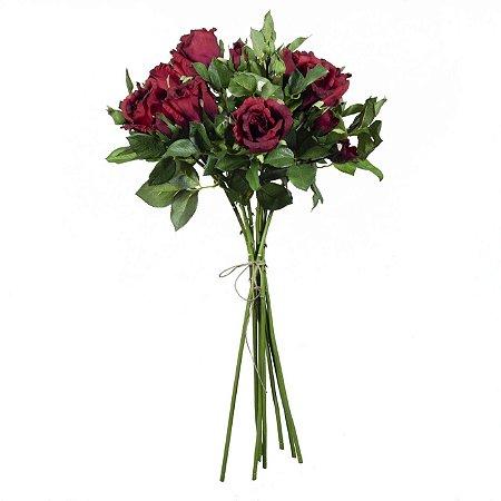 Buquê De Rosas Com 12 Flores