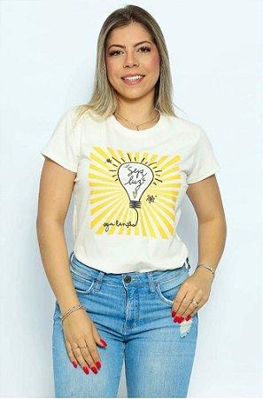 T Shirt Seja luz, Seja bênção