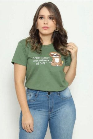 T Shirt o pior vazio é o da garrafa de café