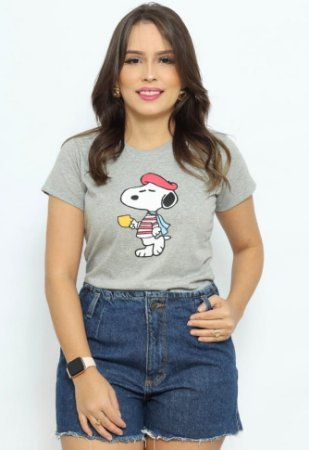 T Shirt Snoopy com xícara