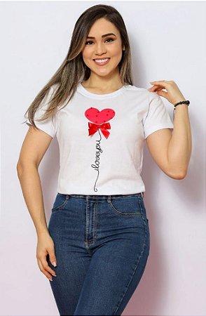 T Shirt Coração I Love You
