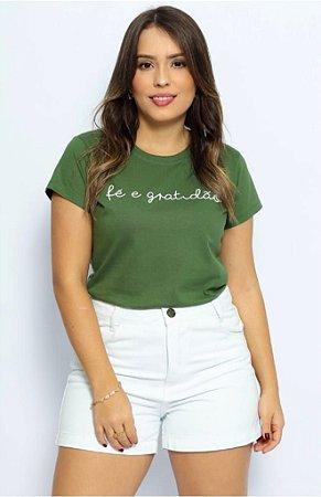 T Shirt Fé e Gratidão