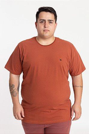Camiseta Plus Size Marsala