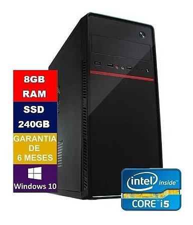 Pc Computador Cpu Intel Core I5 + Ssd 240g, 8gb Ram 100/1000