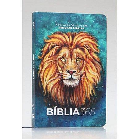 Bíblia 365   NVT   Letra Normal   Capa Dura   Leão Aslam A Palavra de Deus em leituras diárias