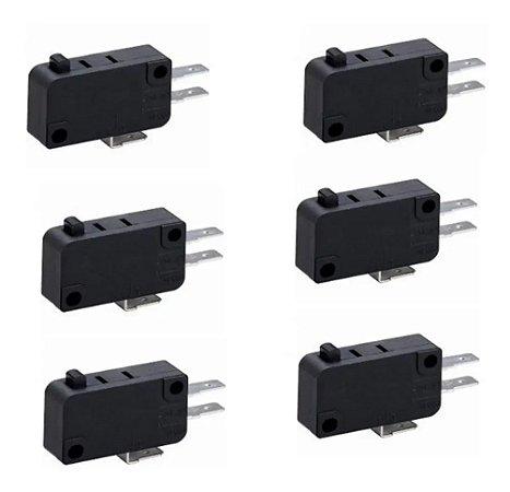Chave Micro Switch Para Forno Microondas (6 Unidades)