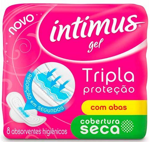 ABS Intimus Gel Seca Com Abas 8 Unidades