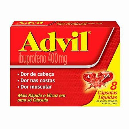 ADVIL 400MG 8 CÁPSULAS