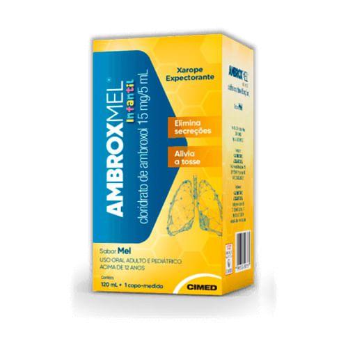 AMBROXMEL 15MG/5ML XPE FR 120ML - USO PEDIÁTRICO