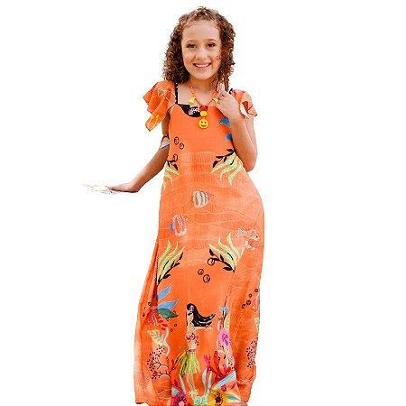 Vestido Havaiana Longo