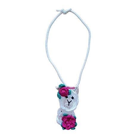 Colar Lhama Crochet