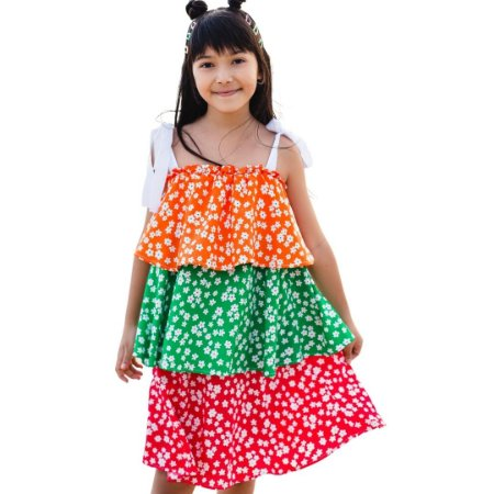 Vestido Jardim Colorido