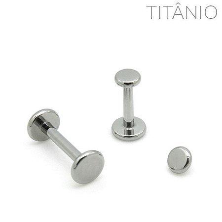 Labret Disco Flat Titânio
