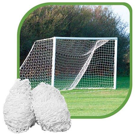 Par de Rede para Trave de Gol Futebol de Campo Sob Medida Fio 4mm Nylon