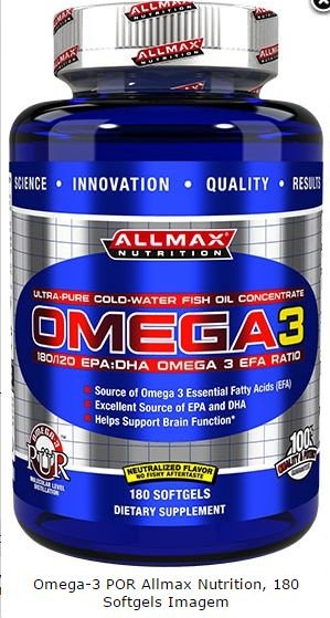 Omega-3 por Allmax Nutrition, 180 Softgels