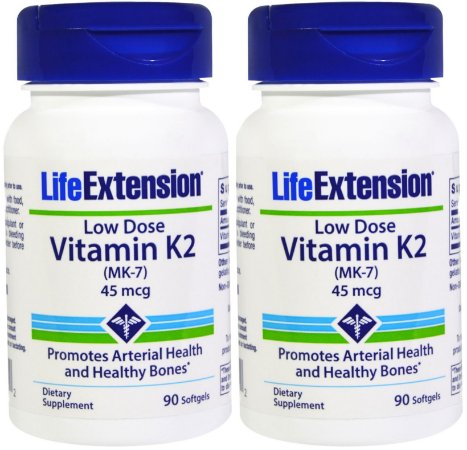 2 LIFE EXTENSION LOW-DOSE VITAMIN K2 | 45 MCG, 180 SOFTGELS
