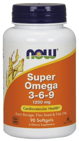 NOW FOODS SUPER OMEGA 3-6-9 1200 MG - 90 SOFTGELS