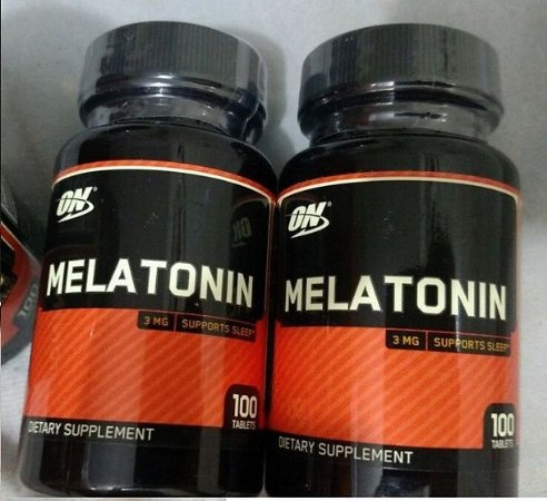 2 Melatonina 3 mg (200 cápsulas) - Optimum Nutrition Hormônio Natural do Sono Durma Bem