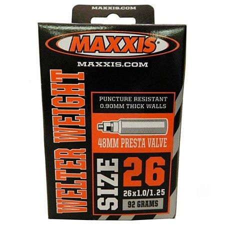 Camara para Bicicleta Maxxis 26x1.0 / 1.25 Válv. Presta 48mm