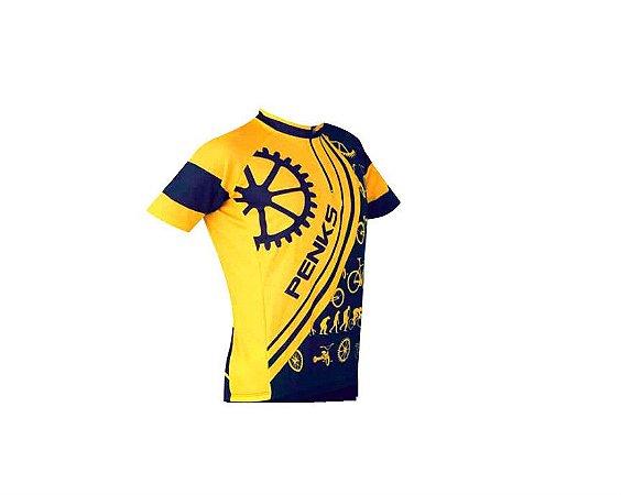 Camisa Infantil Velo Kids Penks Amarelo