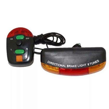 Lanterna Buzina 8 Sons com Seta e Luz de freio