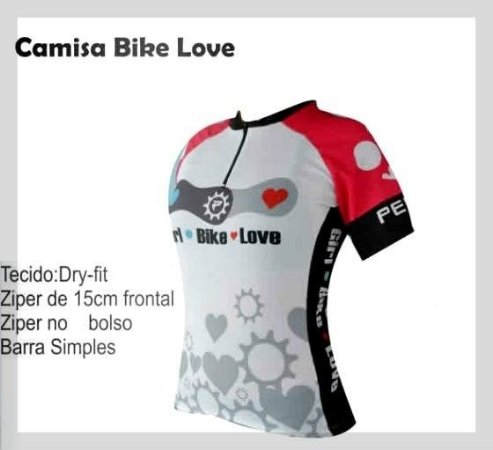 Camisa Bike Feminina Ciclismo Love Bike Penks