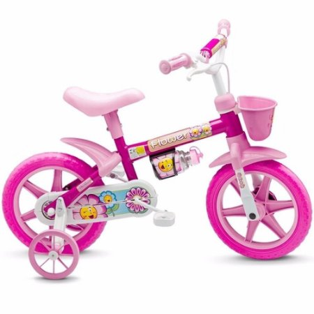 Bicicleta Infantil Girl  Aro 12 Flower Nathor