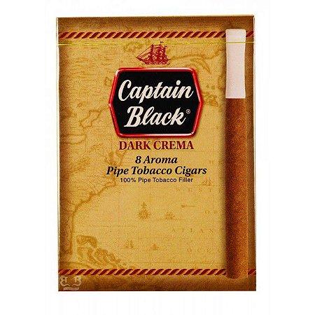 Cigarrilha Captain Black Dark Crema com Piteira – Caixa com 8