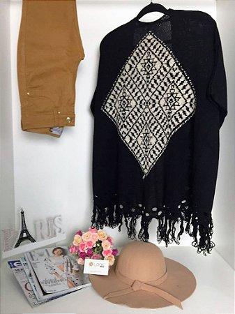 Kimono Preto Étnico