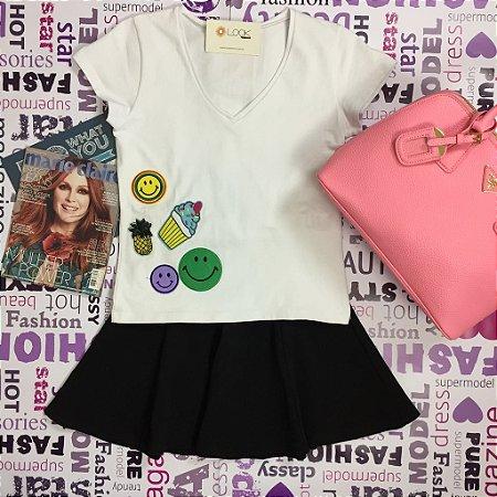 T-Shirt Gola V - Patchs Aplicados