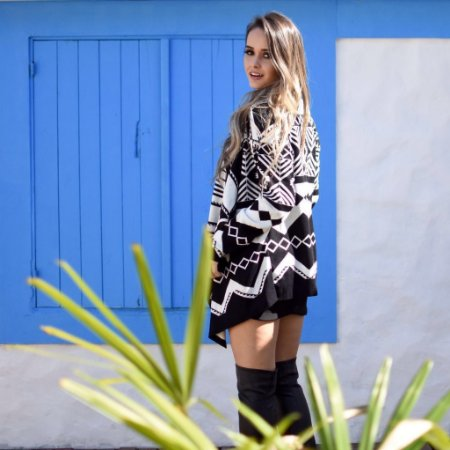 Kimono P&B - Triângulo Étnico