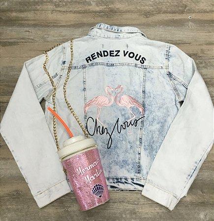 Jaqueta Jeans Flamingo