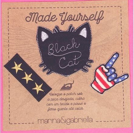 CARTELA DE PATCH BLACK CAT