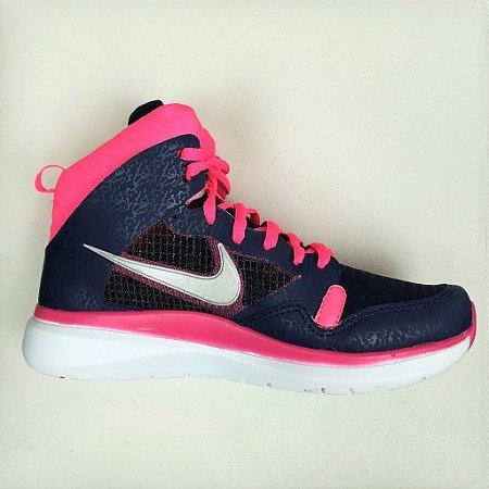 Tênis Nike Cano Alto - Pink & Azul Marinho