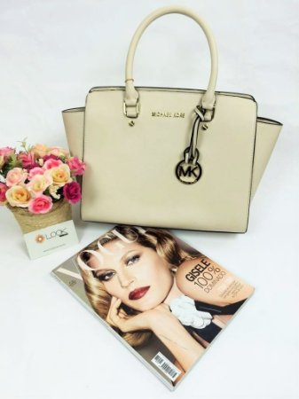 Bolsa Michael Kors Selma Off White - Inspired