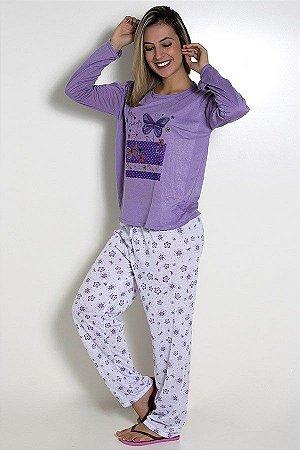 Pijama Feminino Longo